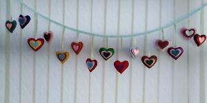 Heart Bunting Handmade Colourful Heart Bunting Wedding Birthday Bunting