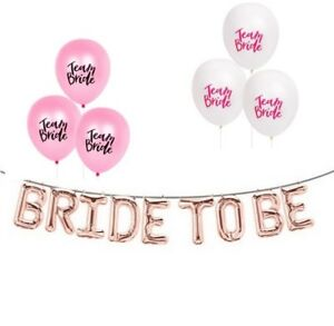BRIDE TO BE Balloons - Rose Gold - Bridal Shower - Bachelorette Party