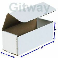 50-12x4x4 White Corrugated Carton Cardboard Packaging Shipping Mailing Box Boxes