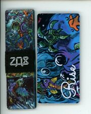 Medium ZOX Silver Strap RISE Wristband with Card Reversible