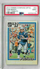 2017 Panini Donruss Optic Tom Brady 1981 Tribute PSA 9