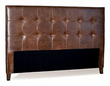 King Size Genuine Leather Headboard for bed in Mink Brown