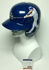 Andre Ethier Signed Hand Painted F/S Authentic Dodgers Batting Helmet PSA AA6082