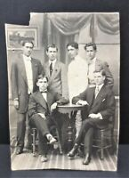 Antique Libertad Igualad Fraternidad 1915 RPPC Postcard Signed By Young Boys Men
