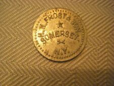 H.H. Frost & Son, Somerset, NY., GF 10 Cents in Merchandise
