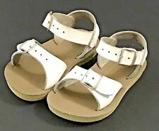 Salt Water Sun San Surfer Hoy Shoe Co Sandals Leather White Size 6 Girls
