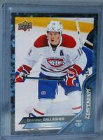 2016-17 Upper Deck Compendium Blue #141 Brendan Gallagher Montreal Canadiens
