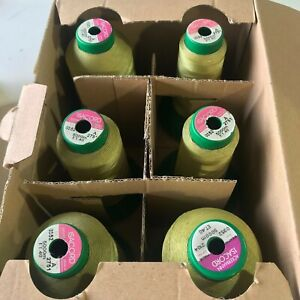 ISACORD EMBROIDERY THREADS 1/2 PRICE NEW/USED BOX OF 6 5000M VARIOUS COLOURS 4