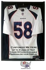 Custom Jersey Display Case with Hanger Create Your Own Text Football Basketball
