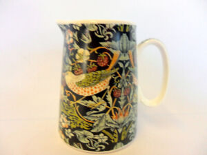 William Morris black strawberry thief cream jug by the Abbeydale Collection