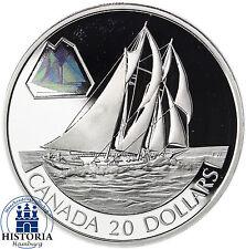 Kanada 20 Dollars Silber 2000 PP Transportserie: The Bluenose - Segelschiff