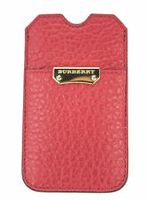 BURBERRY Heritage Grain Bright Rose Iphone 4/4s Case 100% Calf Grain Leather