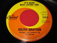CALVIN GRAYSON 45 - IT'S BEEN NICE LOVING YOU - SOUL