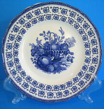 Enoch Wedgwood The Classic 1 Dessert Salad Plate Blue & White Fruit Basket