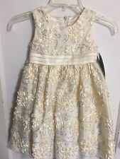BNWT AmerIcan PrIncess GIRLS 4t Cream Easter COMMUNION Flower Girl DRESS