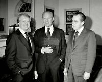 PRESIDENT JIMMY CARTER WITH GERALD FORD AND RICHARD NIXON - 8X10 PHOTO (EP-496)