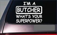 "Butcher Superpower 8"" sticker *G362* decal meat market butchering knives cutlery"