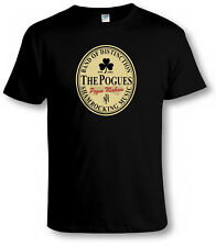 FUNNY POGUES BEER LABEL Tribute T SHIRT Irish Punk Music Parody Mash-Up