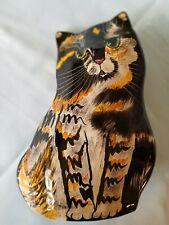"New listing Cats By Nina ~ Nina Lyman 8"" Calico Tortoise Cat Ceramic Vase."