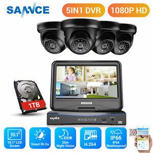 "SANNCE 3000TVL CCTV Camera Monitor System 8CH 10.1""LCD Monitor DVR Security 1TB"