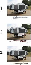 Custom Pop up Camper Graphic Stripe Kit Vinyl Decal Stickers RV Trailer