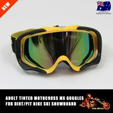 Yellow Frame Tinted lens Motocross Off-Road Dirt ATV Quad Gokart Bike GOGGLES