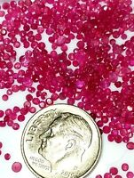 12-20 Tiny/Small per Lot Natural African Ruby loose gemstones faceted round