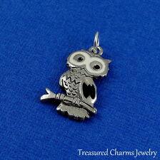 Silver OWL Bird Hooter Night CHARM PENDANT