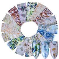 16X Gradient Marble Shell Design Nail Art Foils Transfer Decals Sticker Decor ID
