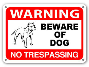 Beware of Dog Sign No Trespassing Guard Dog on Duty Sign Dogs Will Bite Attack