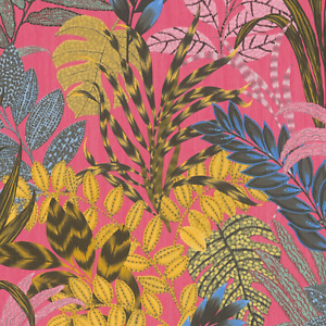 AS Nala Cape Town Tropical Pink & Yellow Floral Jungle Wallpaper 37860-2