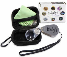 Jewelers Loupe 40x Magnifier LED/UV Illuminated with Case by Wesley's