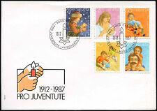 Switzerland 1987, Child development, Pro Juventute FDC First Day Cover #C20132