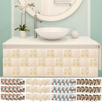 KQ_ 18Pcs Mosaic Self-adhesive Bathroom Kitchen Decor Home 3D Tile Wall Sticker