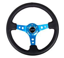350mm Sport Reinforced Deep Dish Steering Wheel - Blue