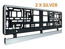 2 X Black Border Trim Number Plate Surround Holder Frame 52.5x13cm