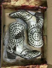 Old Gringo Tino Tino 9.5 white snow cowgirl boots New in Box
