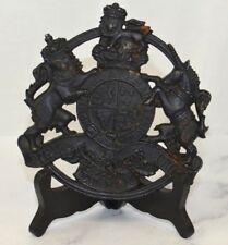1953 Kings Arms Cast Iron Trivet 'Honi Soit Qvi Mal Y Pense' Royal