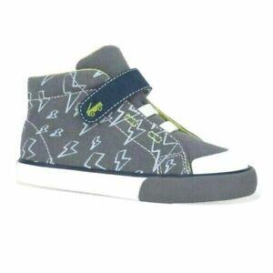 See Kai Run Basics Boys Toddler Belmont II Hook & Loop Hi-Top Sneakers Sz 8 NWT