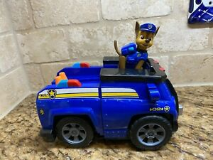 PAW PATROL ON A ROLL CHASE TRANSFORMING POLICE VEHICLE CRUISER &FIGURE W/ SOUNDS