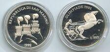 G1604 - San Marino 500 Lire 1992 R KM#276 Olympia Barcelona PROOF PP Silber