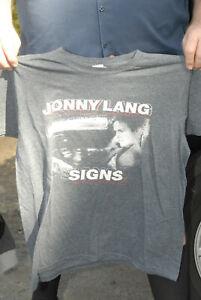 Johnny Lang Signs t shirt blues rock guitar large vg+ rock guitar