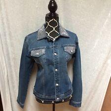 NWOT Christine Alexander Million Dollar-esque Denim Jacket L