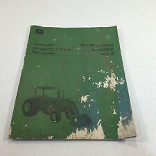John Deere 48 Quik Tatch Farm Loader Operators Manual Om W20696