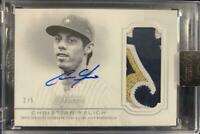 MLB Card 2020 Christian Yelich Topps Dynasty Milwaukee Brewers Auto Patches 2/5