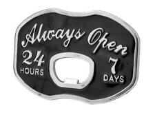 Always Open Bottle Opener Belt Buckle Funny Cool Unique