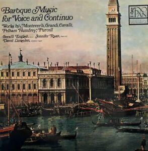 Baroque Music For Voice And Continuo Vinyl LP.1966 Saga PAN 6207.Monteverdi+