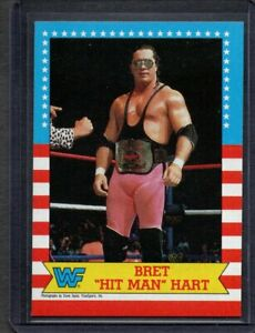 "1987 Topps WWE WWF Bret ""Hit Man"" Hart #1 RC ROOKIE CARD 🔥MINT🔥"