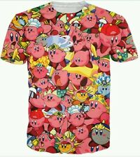 MAGLIA SUPER MARIO BROS KIRBY - L - Maglietta Shirt Felpa Sweater Crystal Shards