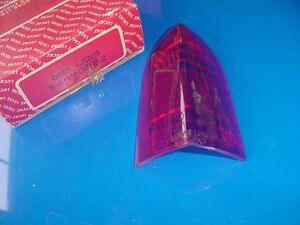 NOS LUCAS Tail Light Lamp Lens Austin A40 A-40 Farina Red Top section only
